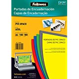 Fellowes 5100601 - Portadas para encuadernar de PVC opaco, A4, azul