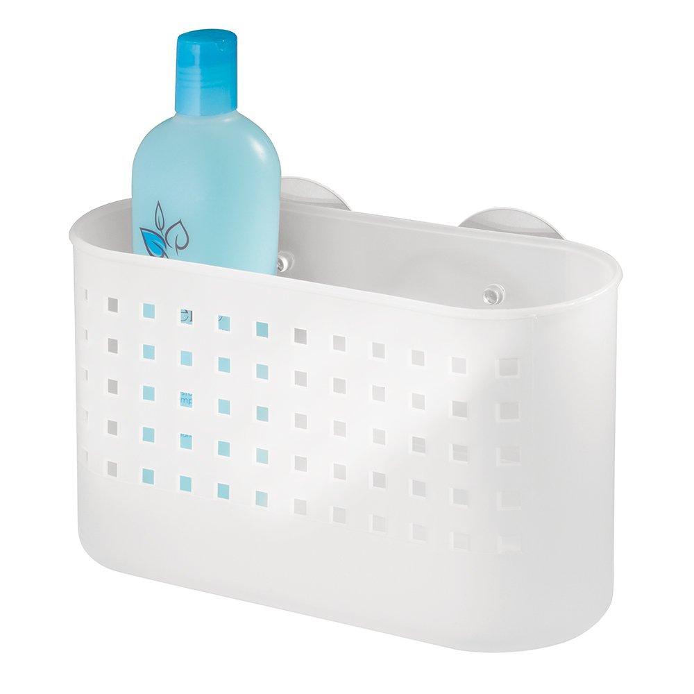 interdesign basic eckduschkorb duschkorb ohne bohren aus kunststoff mit saugnpfen durchsichtig amazonde kche haushalt - Seifenablage Dusche Ohne Bohren