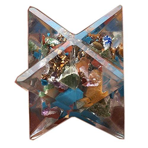 Ihr 24 Seiten Produkt Booklet Fantastische Orgon Merkaba Heilige Geometrie Aura platonisch Heilung Genuine Kristall Göttliche EMF Schutz Metaphysische vitale Lebensenergie Piezoeffekt DNA w / Pouch