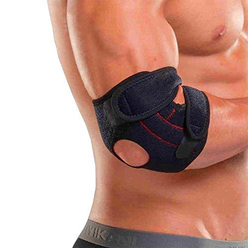 Ellenbogen-wrap (Tennis Golfer Ellenbogen Unterstützung für Ellenbogen Schutz Ellenbogen Armband Armschutz Wrap - Leicht und verstellbar - Ellenbogenarm Klettverschluss Gut für Ellenbogen Übung und Reliefschmerzen)