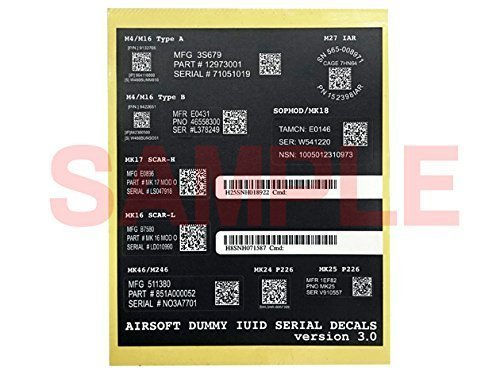US U.S. military data matrix QR new serial code M4, P226, SCAR-L / H, Mk46, M320, M246 (japan import)