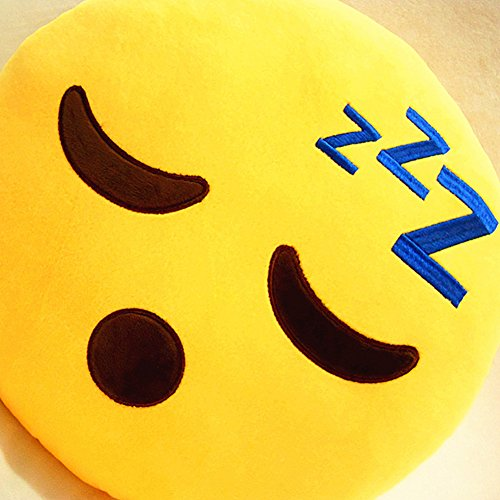 LI&HI Emoji Lachen Emoticon Kissen Polster Dekokissen Stuhlkissen Sitzkissen Rund(dösen) - 2