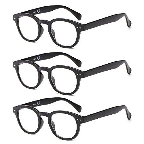 Suertree Feder Scharnier (3 Pack) Lesebrillen Sehhilfe Augenoptik Brille Lesehilfe für Damen Herren von2.0X BM171