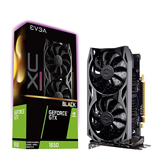 EVGA GeForce GTX 1650 XC Ultra Black Gaming, 4GB GDDR5, Backplate de Metal, 04G-P4-1155-KR