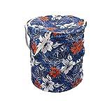Winner Full Size Multicolor Round Foldable Laundry Basket - Laundry Bag for Organizing Cloths