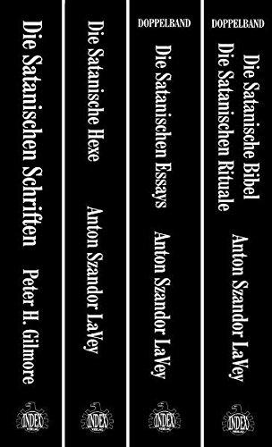 """Die Satanische Bibliothek: hochwertige und limitierte Gesamtausgabe im Schuber, enthält """"Die Satanische Bibel / Die Satanischen Rituale"""", """"Die ... Hexe"""", alle Bücher Festeinband in Leinen"""