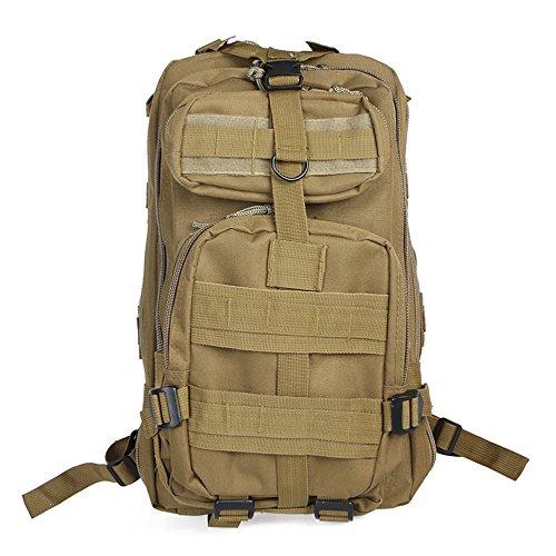 Zaino militare impermeabile doolland outdoor tattico borsa a tracolla espandibile zaino per campeggio trekking viaggio caccia kaki khaki 42x25x22cm