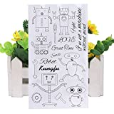 ECMQS DIY Roboter Transparente Briefmarke, Silikon Stempel Set, Clear Stamps, Schneiden Schablonen,...