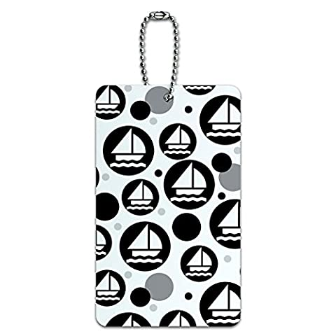 Graphics and More, Etiquette , Sailing Sail Boating (multicolore) - UK_IDTAG.RECT.08236