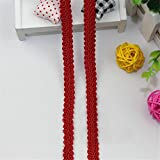 Nicole Diary Bordado de encaje bordes bordado cinta de costura de artesanía nupcial de vestidos de novia de corte apliques 5 Meters #12