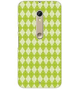 Printdhaba Diamond Pattern D-5916 Back Case Cover For Motorola Moto X Style