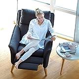 place to be! Top moderner Relax Sessel in Premiumqualität im skandinavischem Stil. Stillsessel Ohrensessel mit Schlaffunktion und hoher Lehne in 11 verschiedenen Stoffen und verschiedenen Massivholzarten.