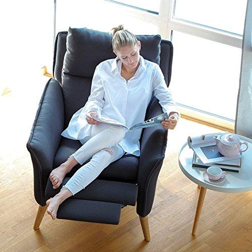 place to be! Top moderner Relax Sessel in Premiumqualität im skandinavischem Stil. Stillsessel Ohrensessel mit Schlaffunktion und hoher Lehne in 11...