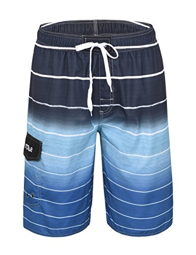 Nonwe Men's Beachwear Quick Dry Striped Board Shorts