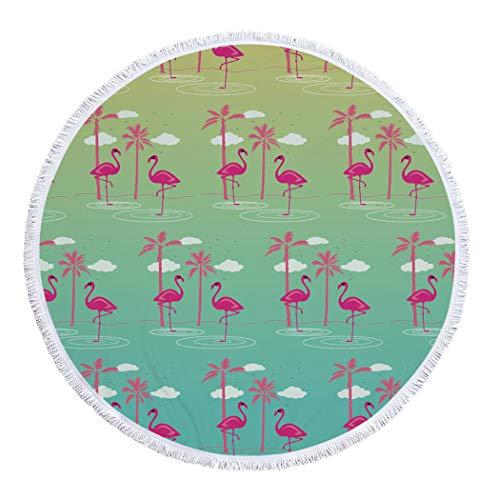DXSX Tropical Flamingo Strandtuch ,Damen Kinder Mädchen Jungen Tischtuch Quaste Tapisserie Picknick Teppich Yoga Matte Schwimmen Surfen Wandern Reisen Badelaken 150cm (Stil #11)