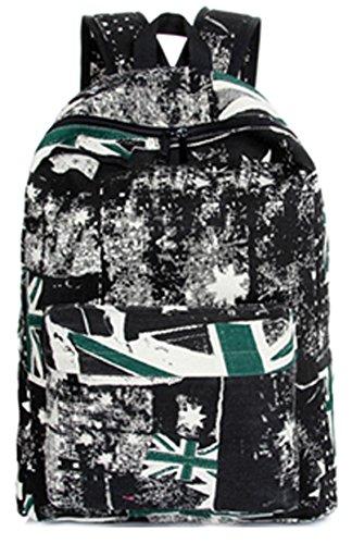 Keshi Neu Faschion Rucksäcke Damen Mädchen Schüler Lässige Canvas Rucksack Vintage Backpack Daypack Schulranzen Schulrucksack Wanderrucksack Schultasche Rucksack für Freizeit Outdoor Sport Leinwand Grün