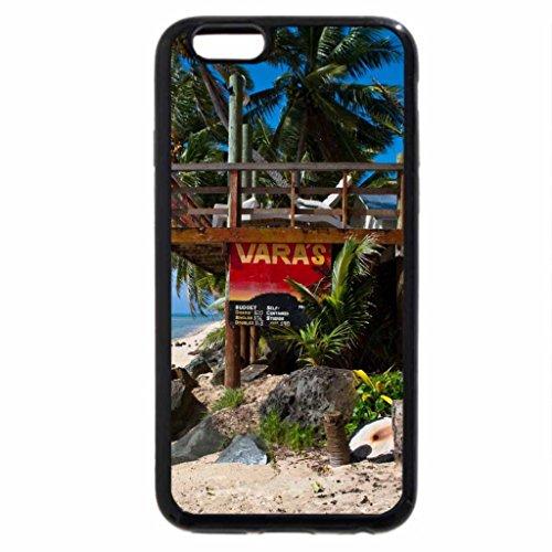 iPhone 3S/iPhone 6Coque (Noir) le paradis des Îles Cook De Plage et Mer-Aitutaki