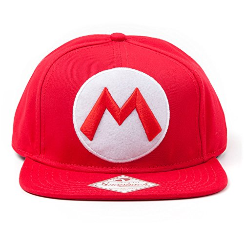 Produktbild Nintendo Snap Back Cap with M Logo in front,  rot