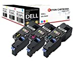 3 Reton Toner | 30% höhere Druckleistung | kompatibel zu Dell E525w Kapazität: Farben je 1820 Seiten