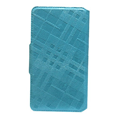 J Cover Krish Series Leather Pouch Flip Case With Silicon Holder For Panasonic T30 Light Blue