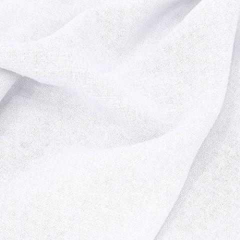 TOLKO Leinen-Stoff Meterware zum Nähen, blickdichter Naturstoff für Bekleidung, Gewänder, Vorhänge und Deko