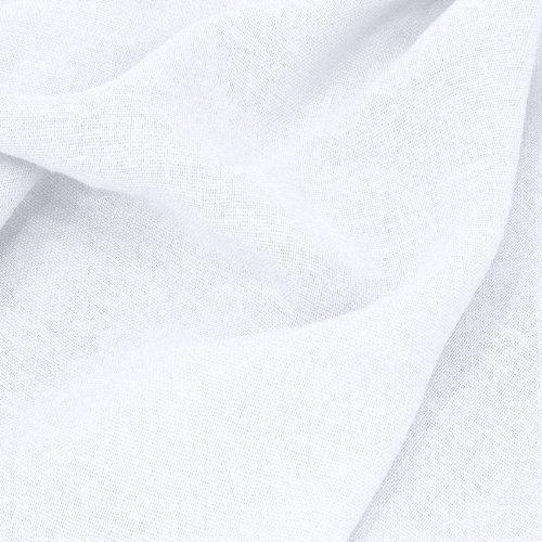 TOLKO Leinen-Stoff Meterware zum Nähen, blickdichter Naturstoff für Bekleidung, Gewänder, Vorhänge und Deko (Weiß)