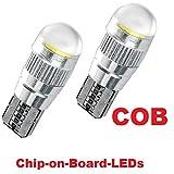 2feux de position INION W5W T10COB optique xenon, blanc, ampoule LED,...