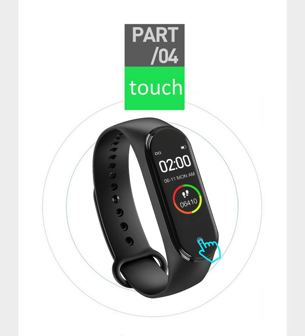 BATHRINS Pulsera Inteligente, [actualización] M4 Fitness Tracker, Impermeable Bluetooth Actividad Tracker Monitor de Ritmo cardíaco Monitor de sueño Podómetro Paso Reloj para Hombres y Mujeres 8