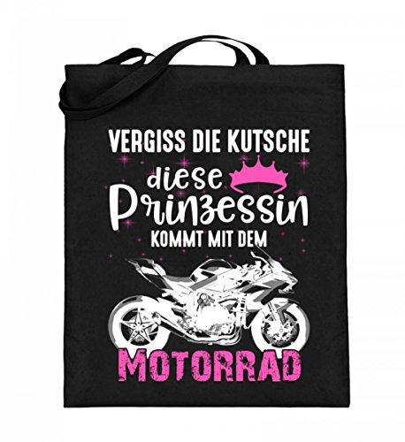 Borsa In Juta Di Alta Qualità (con Manici Lunghi) - Moto Superbike Princess Nera