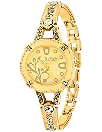 Relish RE-L018GC Golden Metal Analog Watches for Girls, Women