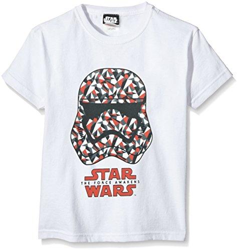 Star Wars Geometric Stormtrooper, Camiseta para Niñas, Blanco, Medium