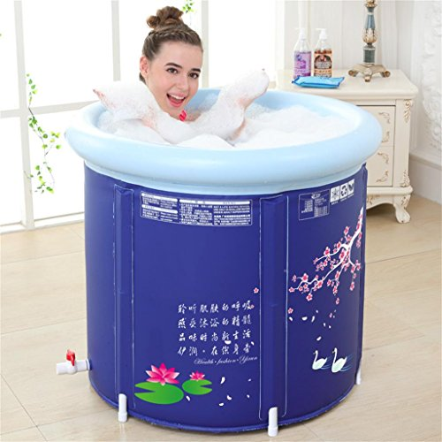 Sunjun& spesse botti water saving vasca da bagno per adulti vasca da bagno gonfiabile tub tubing barrel bath (colore : not include lid, dimensioni : 65*70cm)