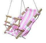 Babyschaukel Babyliegeschaukel Schaukelsitz Babysitz Babywippe Babyhängematte, Babyschaukel:pink/weiss