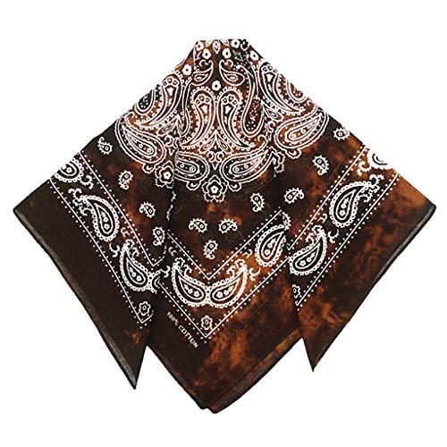 VIccoo Stirnband Bandana, Japanische Vintage gewaschen Tie-Dye Paisley Floral Unisex Baumwolle Einstecktuch Schal Stirnband Bandana Hip-Hop-Armband Krawatte - 1#