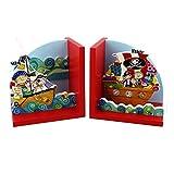 Bunte Pirat Paar Buchstützen des Kindes von Rachel Ellen Designs