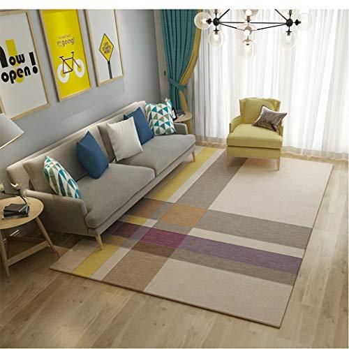 Clothes UK- American Shaggy Area Rug Superweiches Wohn-ESS-Schlafzimmer Anti-Milben-Anti-Rutsch-Teppich Teppich (Farbe : D, größe : 180x280cm) -