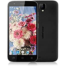 "Ulefone U007 Pro - Smartphone libre 4G Android 6.0 (Pantalla 5.0"", Cámara 8.0 Mp, 8GB ROM, 1GB RAM, Quad Core 1.0GHz, Dual SIM), Negro"