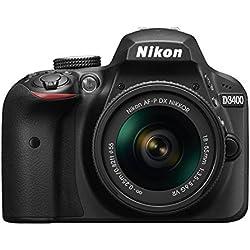 Nikon D3400 Appareil Photo Numérique Réflex 24.2 Mpix Kit Objectif AF-P DX 18-55 VR + AF-P 70-300 VR Noir