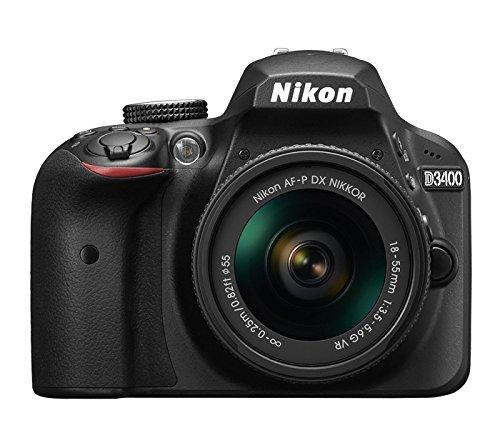 Nikon D3400 - Digitale Spiegelreflexkamera Kit 18-55mm AF-P DX VR + 70-300mm AF-P VR