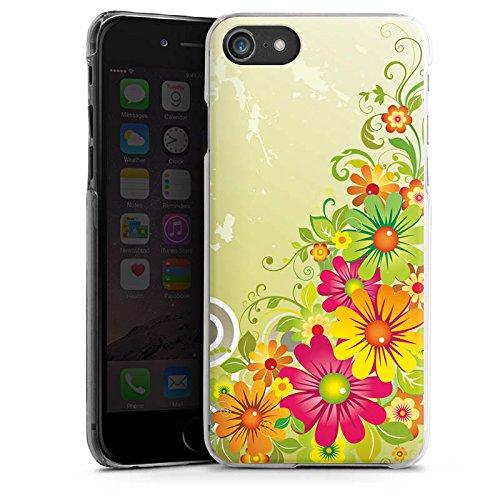 Apple iPhone X Silikon Hülle Case Schutzhülle Flowers Blumen Floral Hard Case transparent