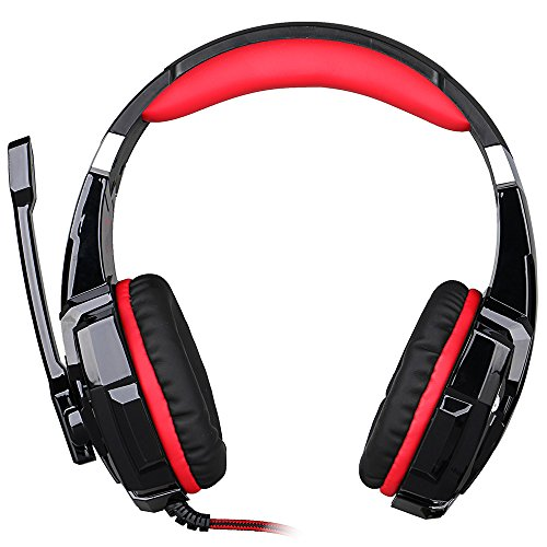 3,5mm Game Headset Gaming Headphone Earphone Headband mit Microphone LED Light geeignet für Laptop-Tablet Mobile Phones iPad Nintendo Switch Samsung Stand-notebook-pc