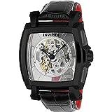 Invicta Homme 'Réserve' automatique en acier inoxydable et de cuir décontractée montre, couleur: noir (modèle: 22835)
