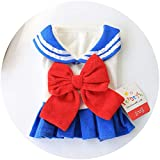 New Pet Academy Student Skirt Teddy Bear Yorkshire Bomei Pet Dog Clothes Costume Spring And Summer@Blue_L