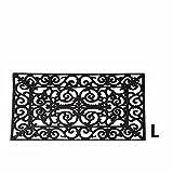 Esschert Design RB03 Türmatte, Rechteckig L, Gummi, schwarz, 70 x 44.5x 1.3 cm