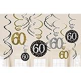 NEU Girlanden-Set Happy Bday Sparkling 60, 12 Stk.