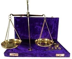 Balance Traditionnelle en Laiton 100g avec Poids et Pinces - Dans Coffret