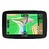 """TomTom VIA 53 - GPS Navegación con pantalla táctil de 5"""", y mapa de 48 países, color negro,  planifica rutas inteligentes que te ayudan a escapar del tráfico en tiempo real - color negro"""