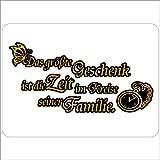 Mauspad Motiv Geschenk Zeit Familie
