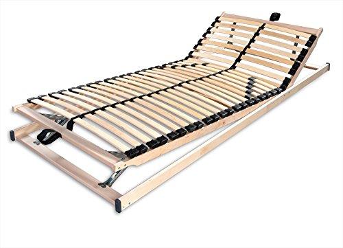 Betten-ABC Max1 K + F, Lattenrost, fertig montiert, mit Kopf- und Fußteilverstellung, Holm durchgehend, Größe 140 x 200 cm