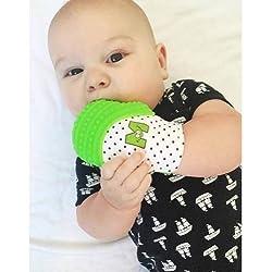 Fäustling-Ring Dentitionschätzchen - Vom Spielzeug-Baby - Von Fäustling Fäustling Zähne Silikon - Grün